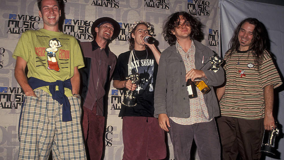 Pearl Jam attends 10th Annual MTV Video Music Awards on September 2, 1993 at the Universal Ampitheater in Universal City, Cal