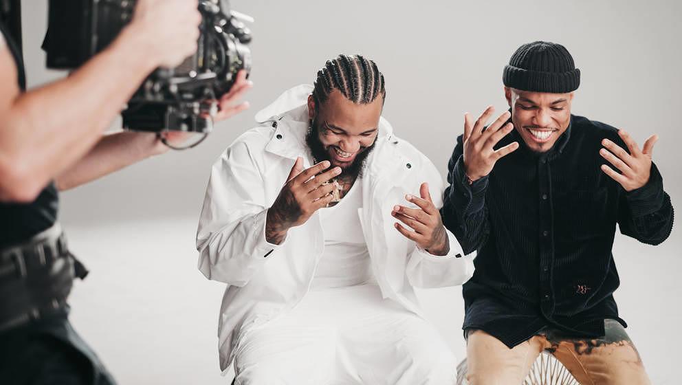 """The Game und Anderson .Paak  am Set ihres Videodrehs zu """"Born To Rap"""""""
