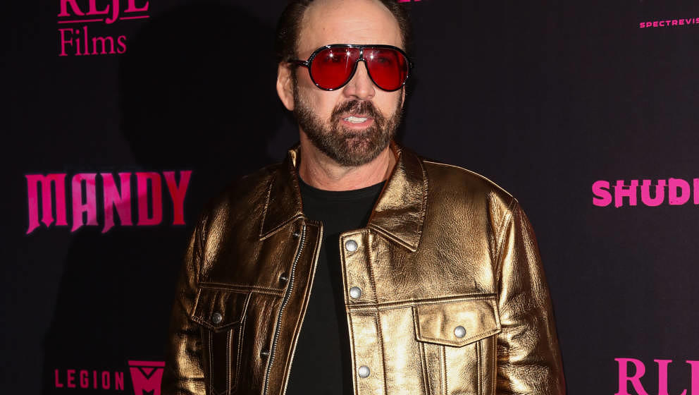 HOLLYWOOD, CA - SEPTEMBER 11:  Actor Nicolas Cage attends the special screening and Q&A of 'Mandy' At Beyond Fest at the