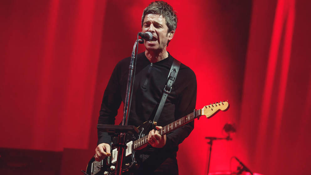 MADRID, SPAIN - JULY 11: Noel Gallagher from the band High Flying Birds perfoms on stage a Madcool Festival on July 11, 2019