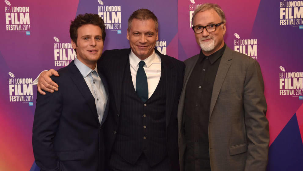 LONDON, ENGLAND - OCTOBER 10:  (L-R) Jonathan Groff, Holt McCallany and David Fincher attend the LFF Connects Special Present