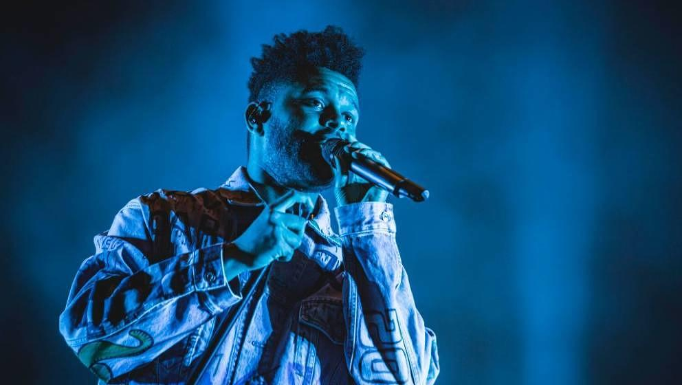 BERLIN, GERMANY - SEPTEMBER 08: Canadian singer Abel Makkonen Tesfaye aka The Weeknd performs live on stage during the first