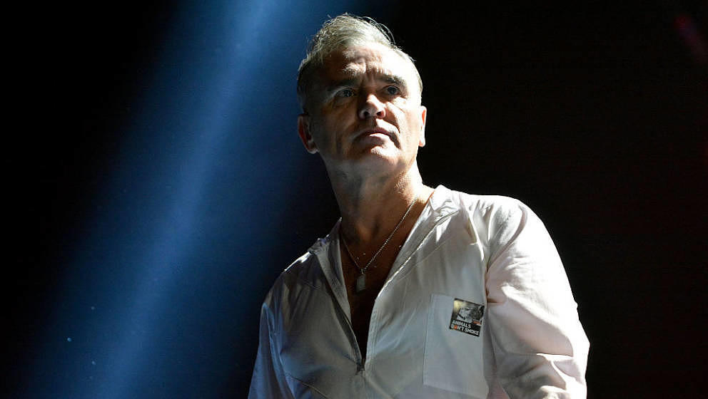 LONDON, ENGLAND - NOVEMBER 29:  Morrissey performs live on stage at 02 Arena on November 29, 2014 in London, England.  (Photo