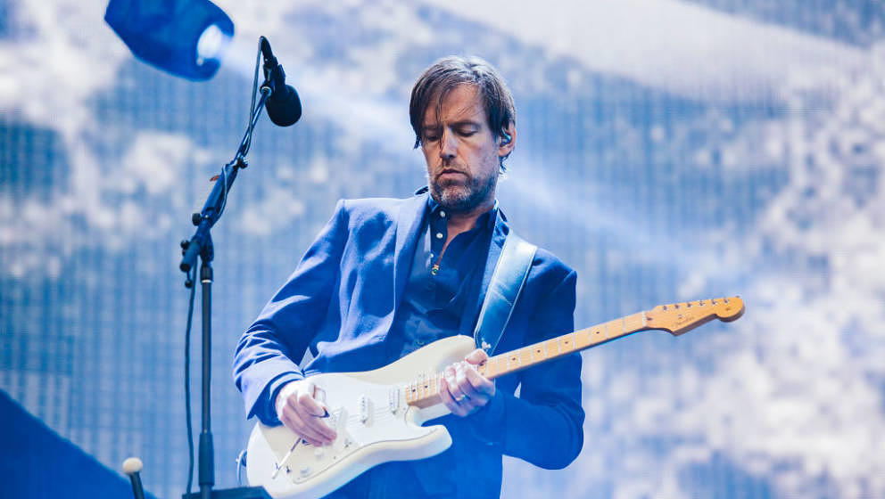 MANCHESTER, ENGLAND - JULY 04: Ed O'Brien of Radiohead performs at Emirates Old Trafford on July 4, 2017 in Manchester, Engla