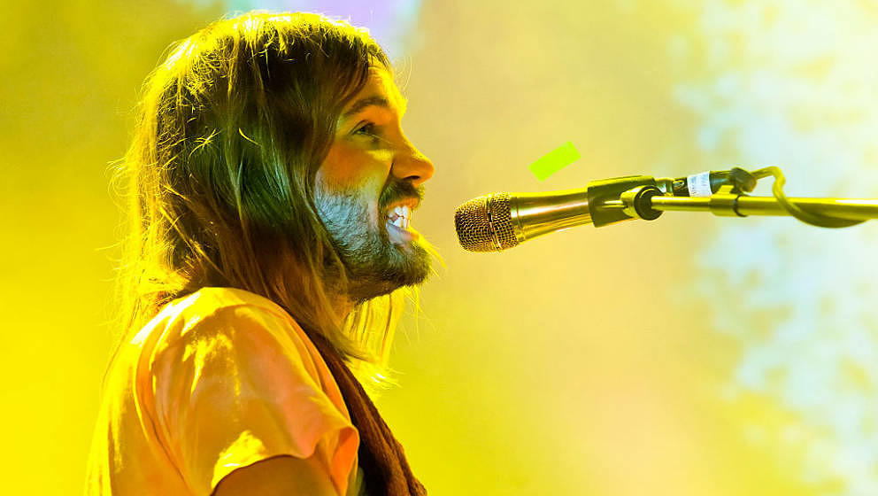 BERLIN, GERMANY - FEBRUARY 08: Singer Kevin Parker of the Australian band Tame Impala performs live during a concert at the C