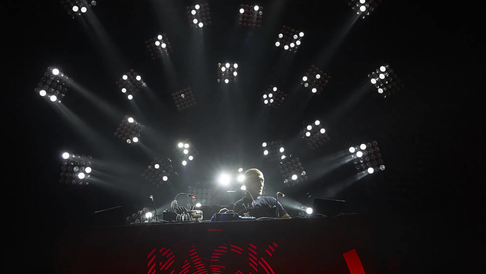 BERLIN, GERMANY - APRIL 07: Paul Kalkbrenner performs at Columbiahalle on April 7, 2017 in Berlin, Germany. (Photo by Sebasti