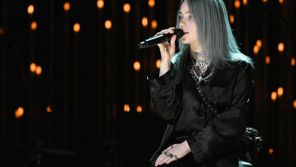 LOS ANGELES, CA - JANUARY 05:  Billie Eilish performs at the Sean Penn CORE Gala benefiting the organization formerly known a