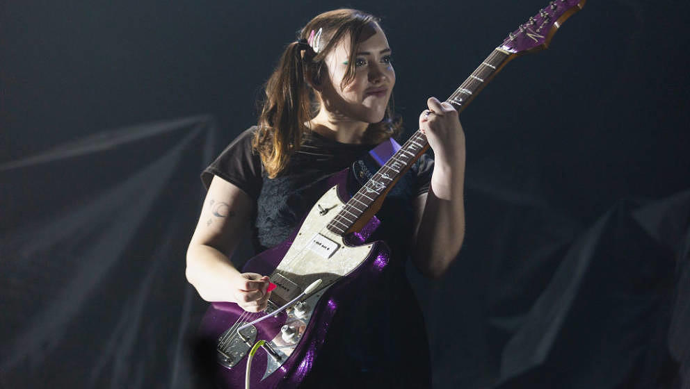 SEATTLE, WA - SEPTEMBER 27:  Sophie Allison of Soccer Mommy performs on stage at WaMu Theater on September 27, 2019 in Seattl
