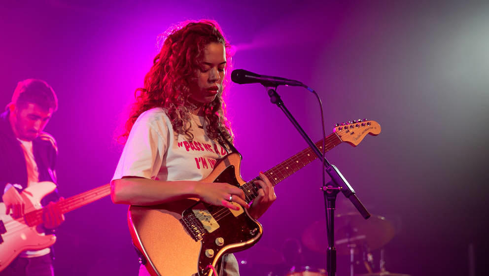 CARDIFF, WALES - OCTOBER 18: Nilüfer Yanya performs on stage at SWN Festival 2019 on October 18, 2019 in Cardiff, Wales. (Ph