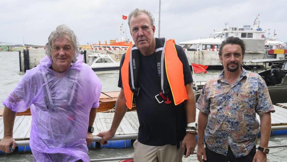 Jetzt auch auf dem Wasser unterwegs:  James May, Jeremy Clarkson und  Richard Hammond.