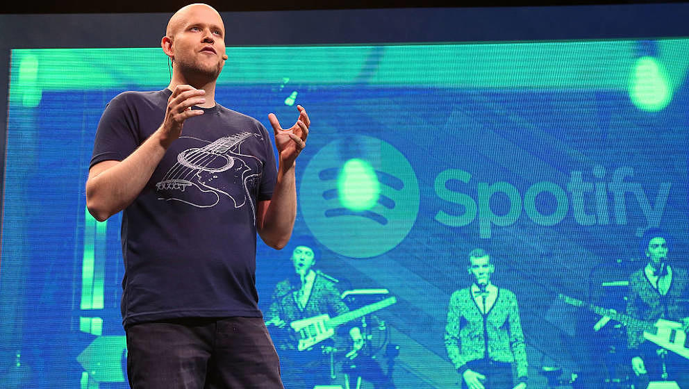NEW YORK, NY - MAY 20:  Spotify founder Daniel Ek speaks during the Spotify New Platform Launch at S.I.R. Studios on May 20,