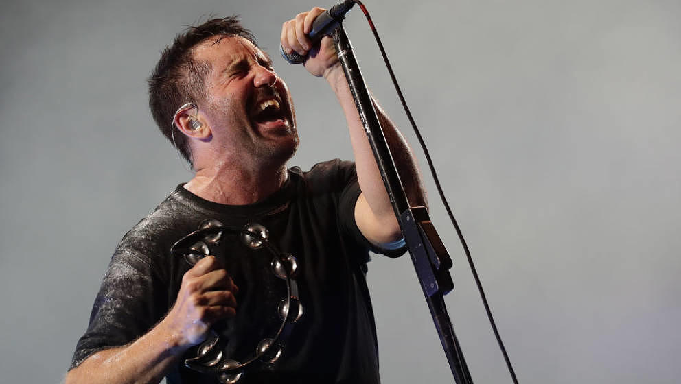 INCHEON, SOUTH KOREA - AUGUST 11:  Trent Reznor of Nine Inch Nails performs live during the Incheon Pentaport Rock Festival 2