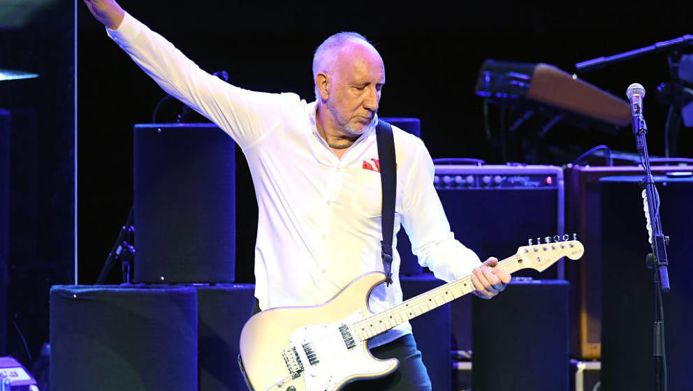 LAS VEGAS, NV - JULY 29:  Guitarist Pete Townshend of The Who performs on the first night of the band's residency at The Colo