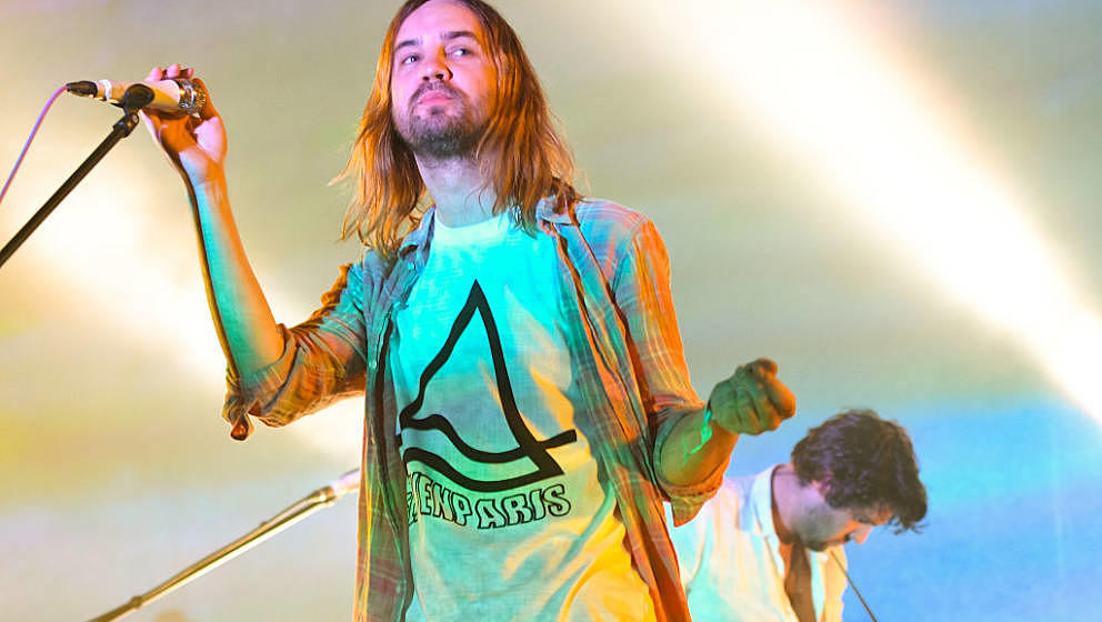 LOS ANGELES, CA - AUGUST 27:  Kevin Parker of Tame Impala performs at FYF Fest 2016 - Day 1 at the Los Angeles Sports Arena o