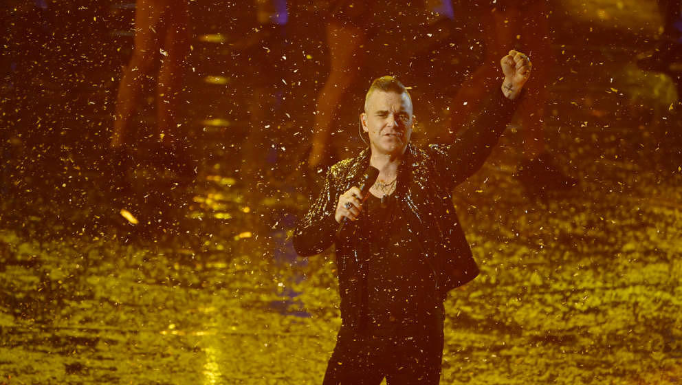 """Robbie Williams, hier live beim """"X-Factor""""-Finale im Dezember 2019 in Mailand"""