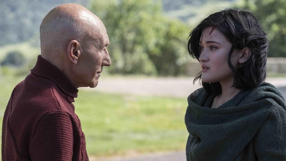 Patrick Stewart als Jean-Luc Picard und Isa Briones als Dahj in 'Star Trek: Picard'