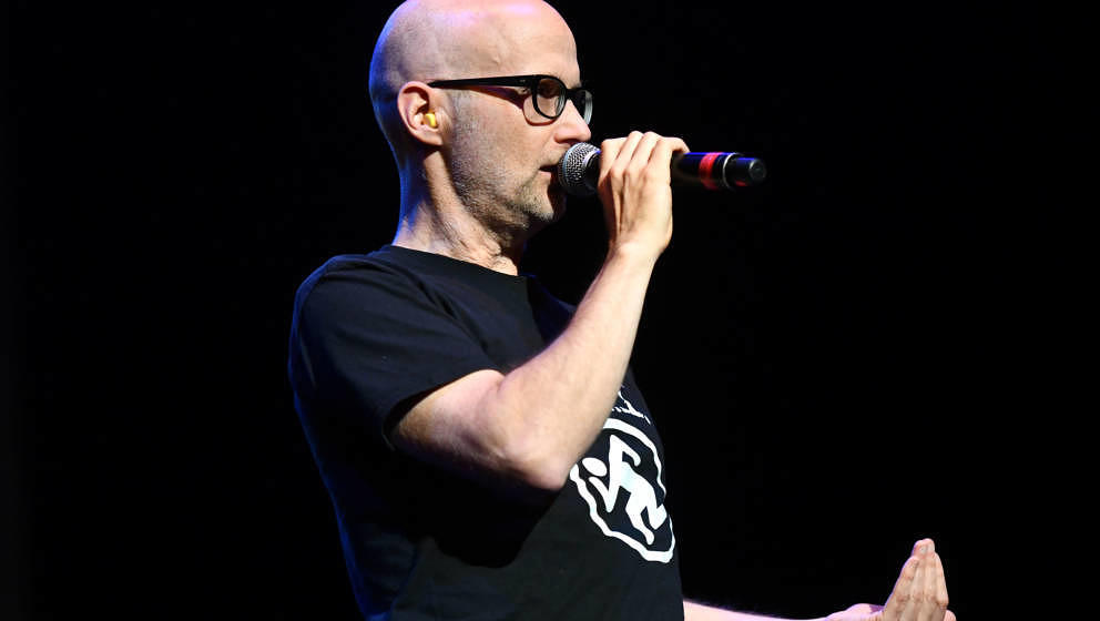 LOS ANGELES, CALIFORNIA - MARCH 07: Musician Moby performs onstage during the 7th Annual Adopt the Arts Benefit Gala at The W