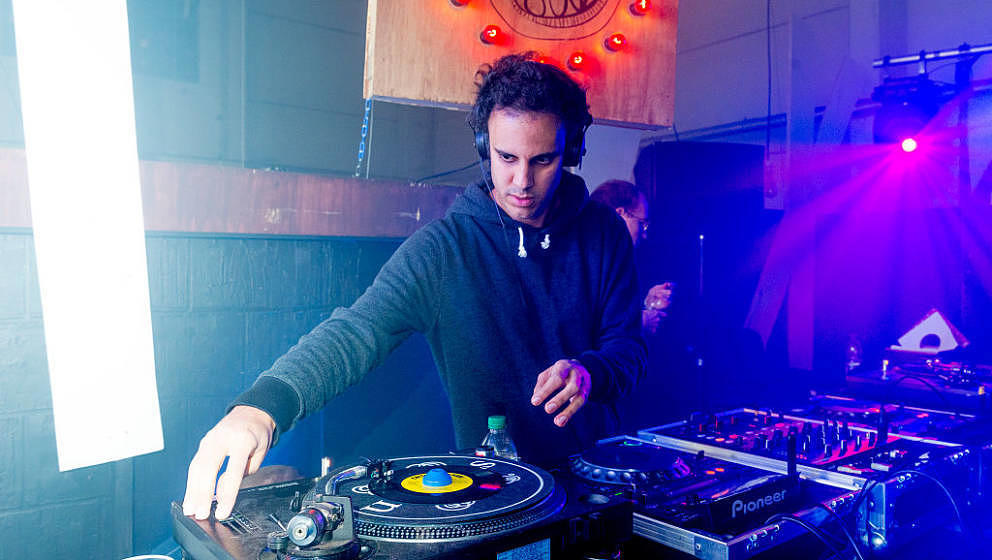 LONDON, ENGLAND - OCTOBER 23:  Kieran Hebden, aka Four Tet, performs at 'The Common Good And NTS Presents: In Aid Of Syria Re