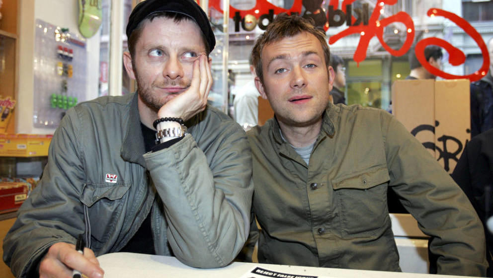 Jamie Hewlett and Damon Albarn of Gorillaz (Photo by Daniel J. Barry/WireImage)
