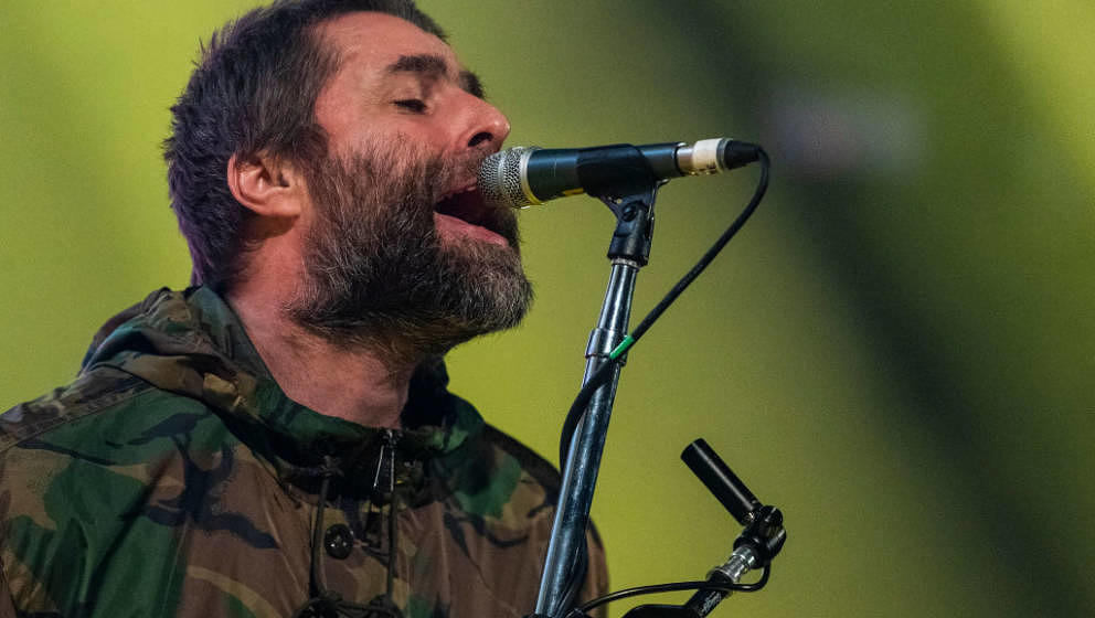 STOCKHOLM, SWEDEN - FEBRUARY 02: Liam Gallagher performs live in concert at the Ericsson Globe Arena on February 2, 2020 in S