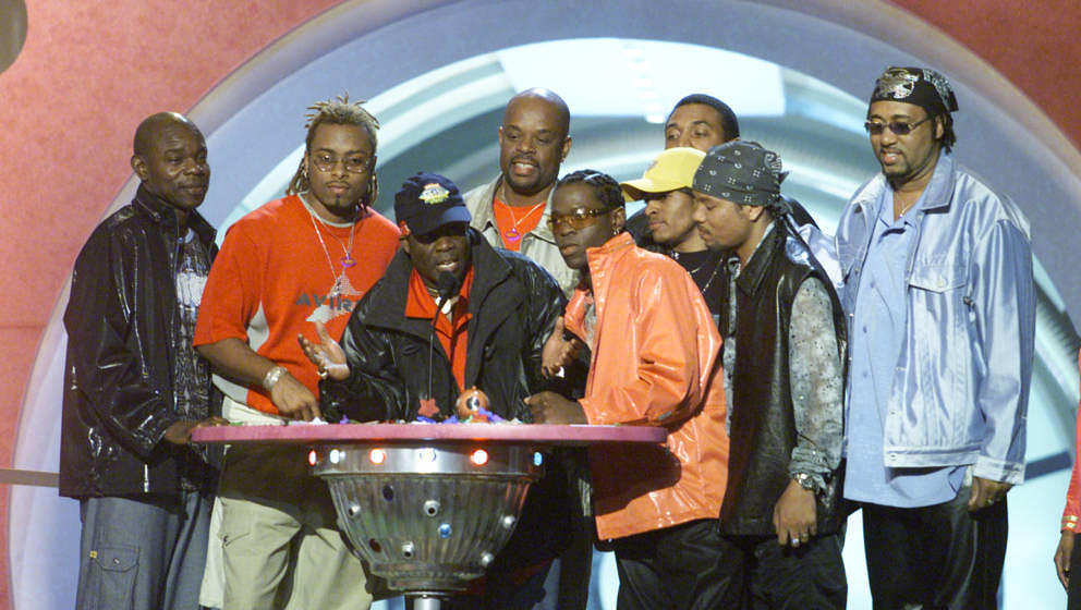 "Die Baha Men im Jahr 2001 bei den ""Nickelodeon's 14th Annual Kids' Choice Awards"" in Los Angeles"