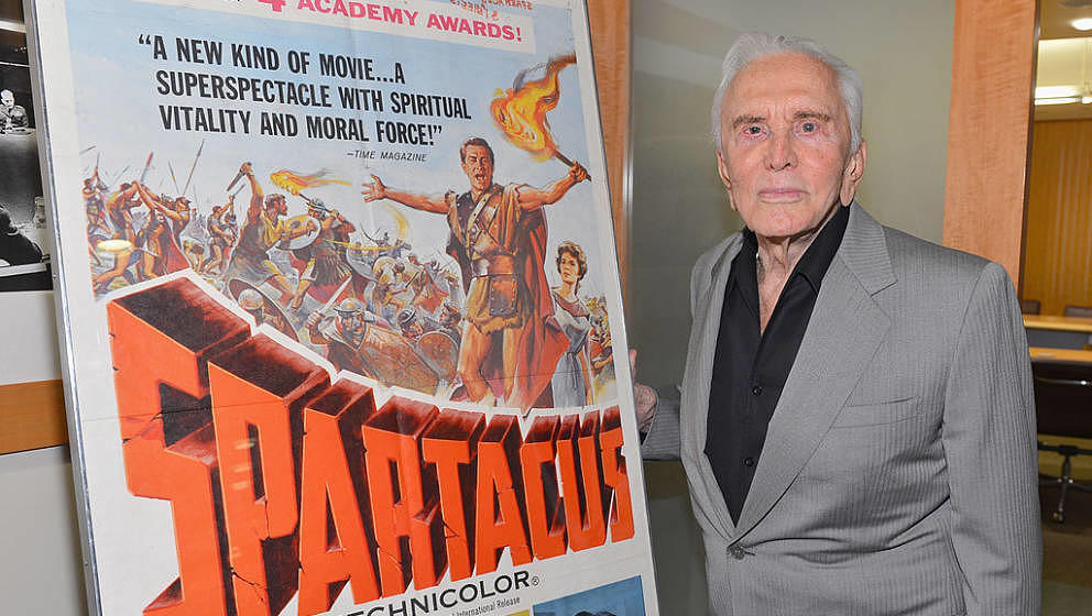 BEVERLY HILLS, CA - AUGUST 13:  Actor Kirk Douglas attends the last 70mm film screening of 'Spartacus' at AMPAS Samuel Goldwy