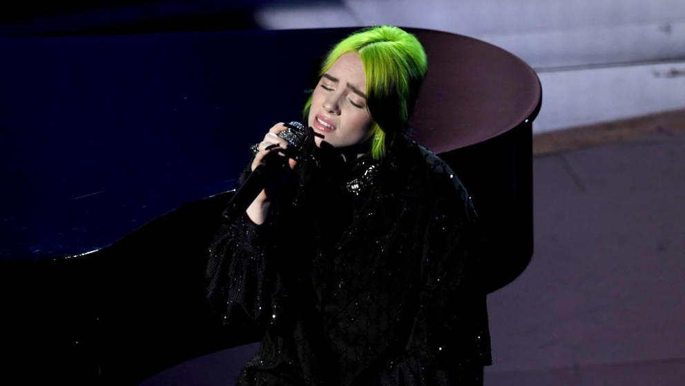 HOLLYWOOD, CALIFORNIA - FEBRUARY 09: Billie Eilish performs onstage during the 92nd Annual Academy Awards at Dolby Theatre on