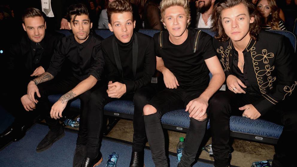 Liam Payne, Zayn Malik, Louis Tomlinson, Niall Horan und Harry Styles von One Direction bei den American Music Awards in 2014