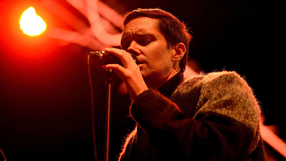 Mike Milosh alias Rhye am 1. Oktober 2017 beim Music Tastes Good Festival in Long Beach.
