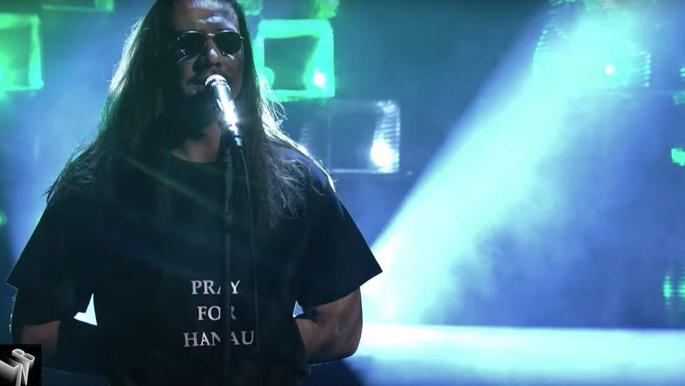 "Der Rapper Apache 207 bei seinem Auftritt bei ""Late Night Berlin"" am 24. Februar."