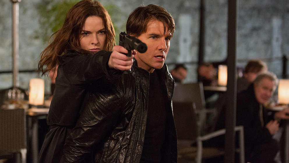 Left to right: Rebecca Ferguson plays Ilsa and Tom Cruise plays Ethan Hunt in Mission: Impossible Rogue Nation from Paramount