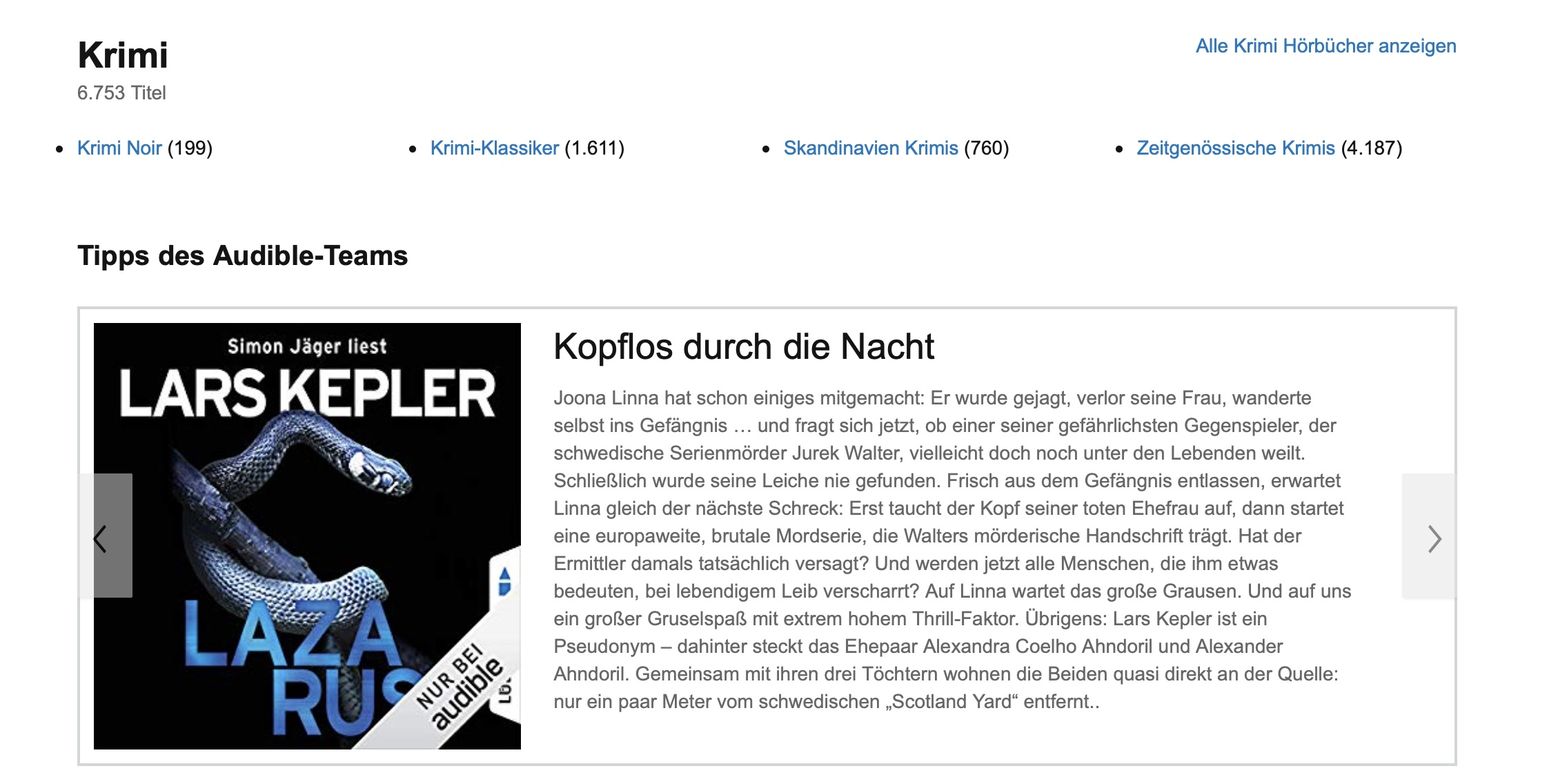 amazon prime hörbuch