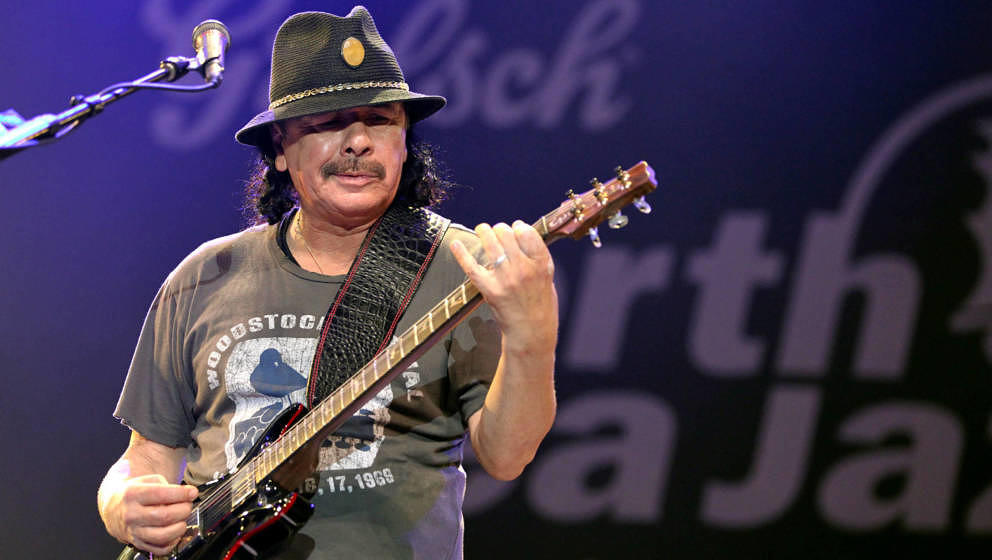 ROTTERDAM, NETHERLANDS - JULY 12:  Carlos Santana performs at day one of the North Sea Jazz Festival at Ahoy on July 12, 2013