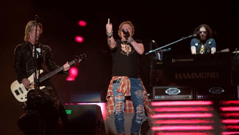 Axl Rose lead singer of band 'Guns N´ Roses' performs during the Vive Latino 2020 festival at the Foro Sol in Mexico City, o