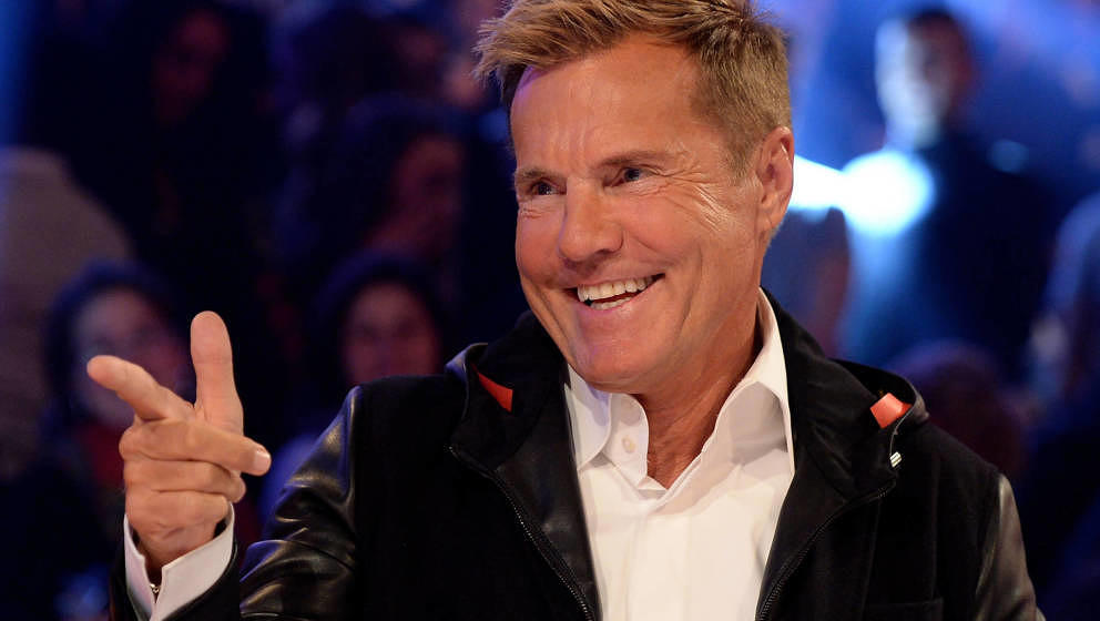 COLOGNE, GERMANY - DECEMBER 17:  Dieter Bohlen reacts during the finals of the tv show 'Das Supertalent' at MMC studios on De