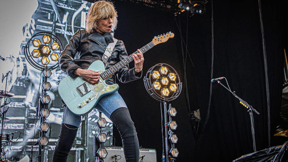 OSLO, NORWAY - JUNE 21: Chrissie Hynde from The Pretenders on stage at OverOslo on June 21, 2019 in Oslo, Norway. (Photo by P
