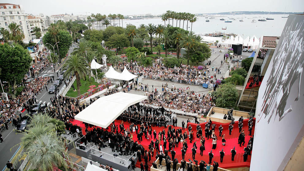 Die Internationalen Filmfestspiele in Cannes aus der Vogelperspektive am 25. Mai 2007.