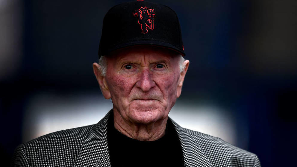 COLERAINE, NORTHERN IRELAND - JULY 21: Former Manchester United and Northern Ireland goalkeeper Harry Gregg looks on during t