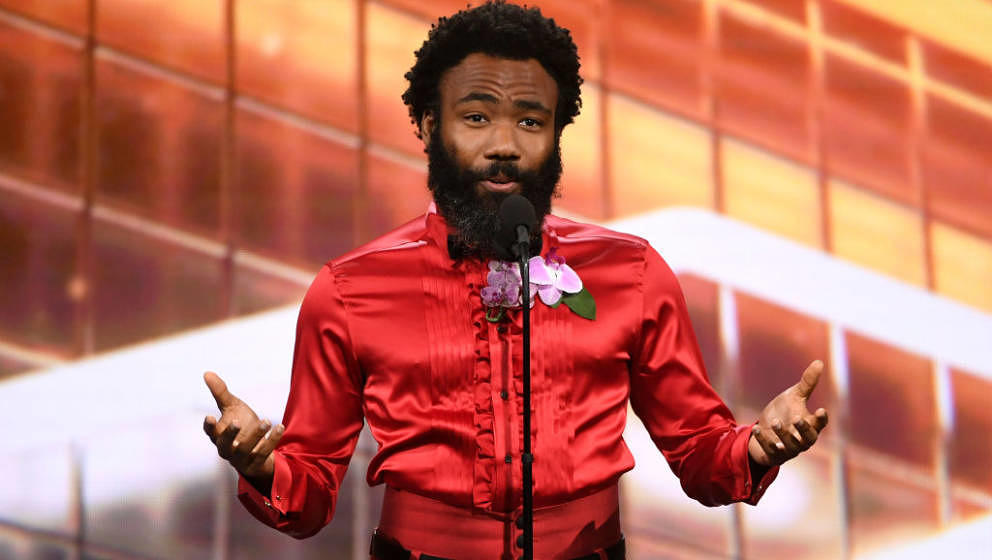 BEVERLY HILLS, CALIFORNIA - OCTOBER 25: Donald Glover speaks onstage during the 2019 British Academy Britannia Awards present