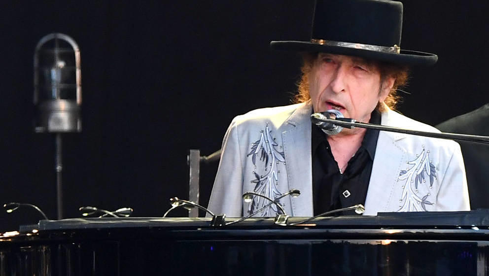 LONDON, ENGLAND - JULY 12: Bob Dylan performs as part of a double bill with Neil Young at Hyde Park on July 12, 2019 in Londo