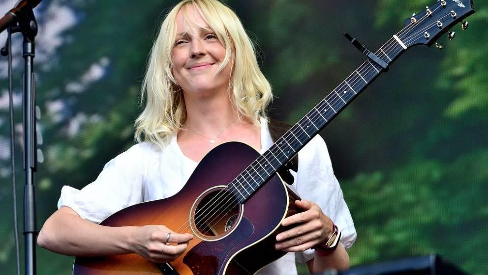 LONDON, ENGLAND - JULY 12: Laura Marling performs on stage at Barclaycard Presents British Summer Time Hyde Park at Hyde Park