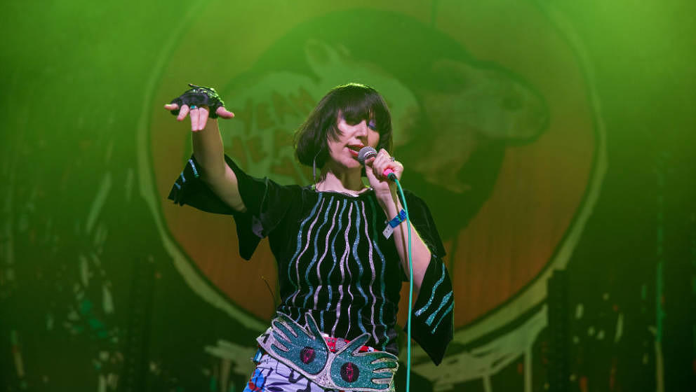 AUSTIN, TEXAS - MAY 07: Singer-songwriter Karen O of the Yeah Yeah Yeahs performs in concert at ACL Live on May 07, 2019 in A