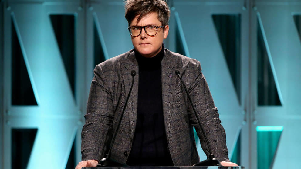 LOS ANGELES, CA - DECEMBER 05:  Hannah Gadsby speaks onstage during The Hollywood Reporter's Power 100 Women In Entertainment