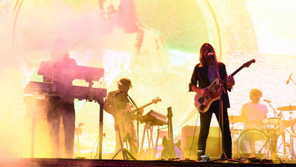 INDIO, CA - APRIL 13:  Tame Impala performs at Coachella Stage during the 2019 Coachella Valley Music And Arts Festival on Ap