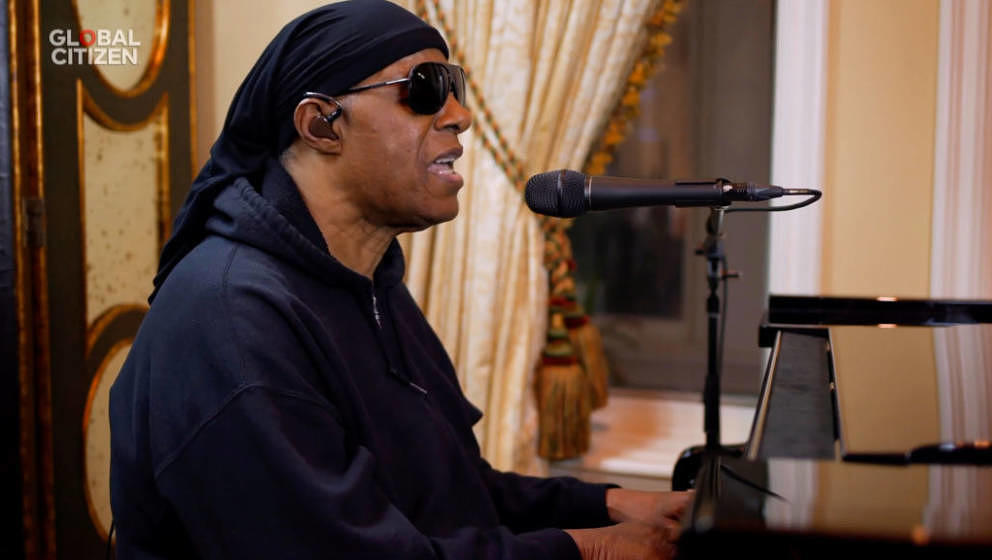 UNSPECIFIED LOCATION - APRIL 18: In this screengrab, Stevie Wonder performs during 'One World: Together At Home' presented by