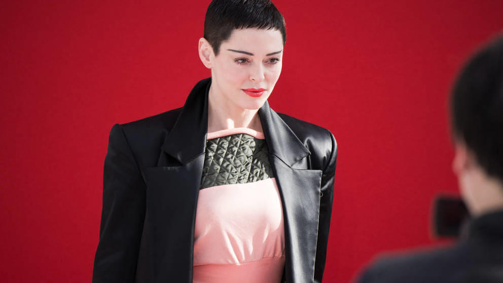 PARIS, FRANCE - MARCH 03:  Rose McGowan attends the Vivienne Westwood  show as part of the Paris Fashion Week Womenswear Fall