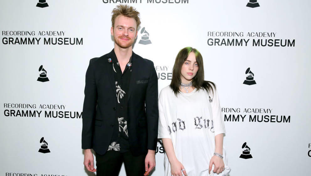 LOS ANGELES, CALIFORNIA - SEPTEMBER 17:  FINNEAS and Billie Eilish attend Spotlight: Billie Eilish with Special Guest FINNEAS