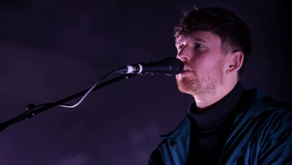 AUCKLAND, NEW ZEALAND - JULY 17: James Blake performs on stage at Shed 10, Queen's Wharf on July 17, 2019 in Auckland, New Ze