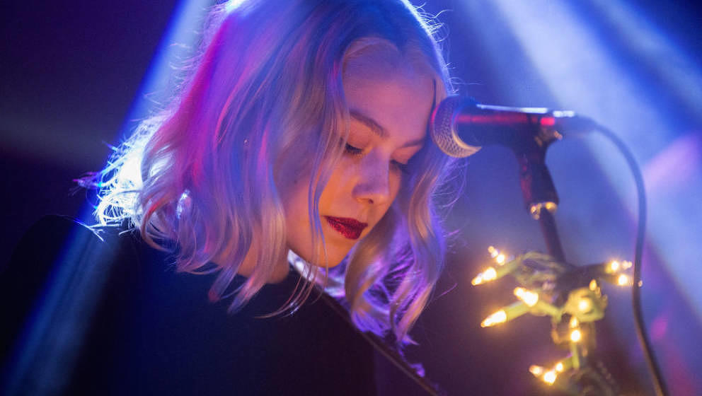 LOS ANGELES, CA - DECEMBER 16:  Phoebe Bridgers performs at Lodge Room on December 16, 2017 in Los Angeles, California.  (Pho