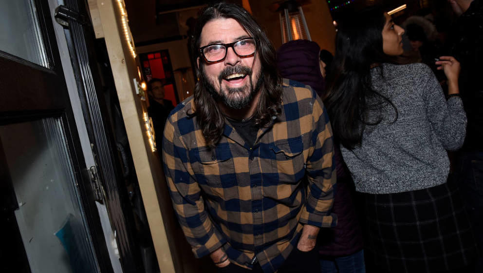 PARK CITY, UTAH - JANUARY 26: Dave Grohl stops by  'The Nowhere Inn' Premiere Party at WarnerMedia Lodge: Elevating Storytell